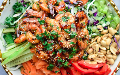 Thai Shrimp Salad w/ Peanut Dressing